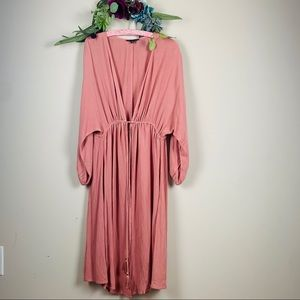 American Eagle dusty rose duster